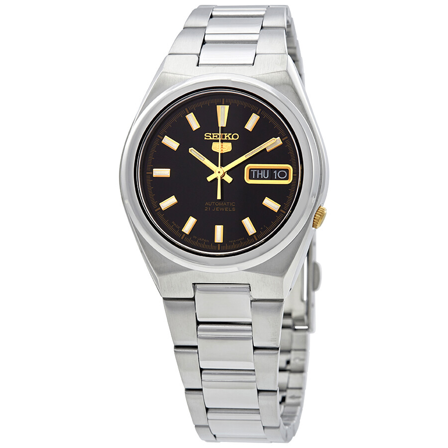 Seiko Series 5 Automatic Date-Day Black Dial Mens Watch SNKC57J1
