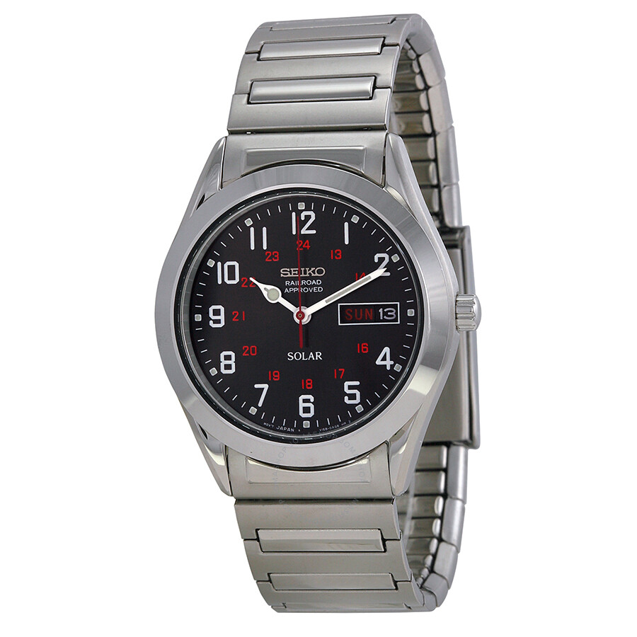 Seiko solar expansion bracelet men 39 s watch sne179 solar seiko watches jomashop for Seiko solar