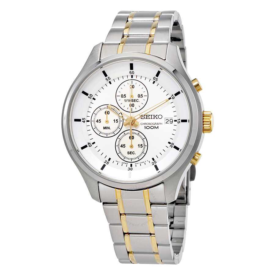 Seiko  Chronograh Silver Dial Mens Watch SKS541
