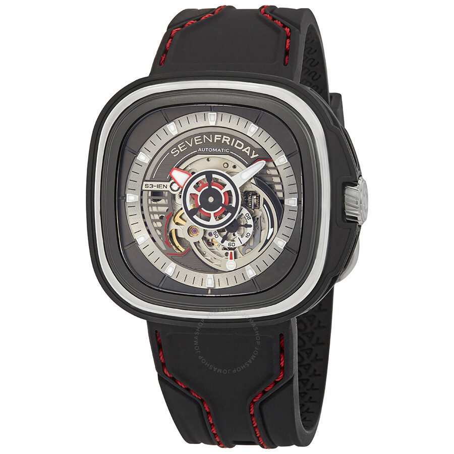 Sevenfriday s series automatic black dial men 39 s watch s3 01 sevenfriday watches jomashop for Sevenfriday watches