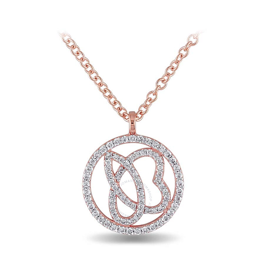 SignatureJB 1/3 CT Diamond TW Necklace With Chain 14k Pink Gold GH SI Length (inches): 18