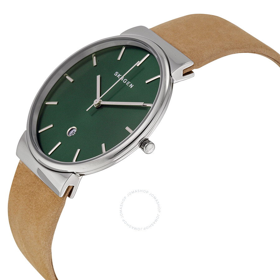 watches index teacher on strap face angled time green xamonev amonev watch white pagespeed and stripe ic