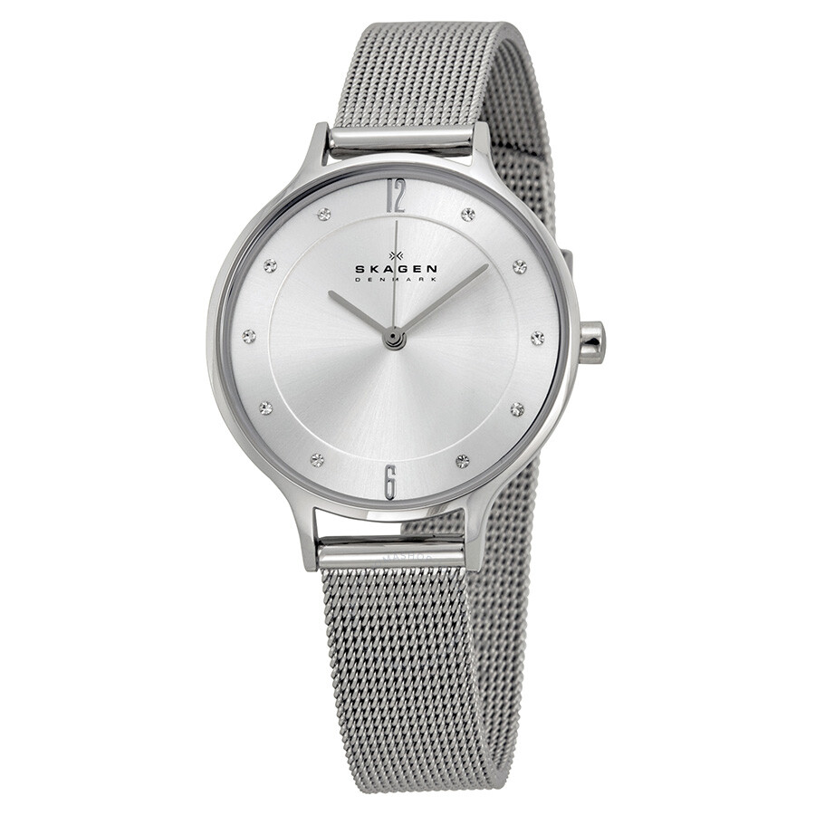 metal watches steel image crystal a grahams skagen ancher jewellers ladies denmark watch mesh