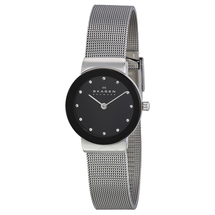 anita multifunction watches steel crystal mesh metal stainless watch skagen womens