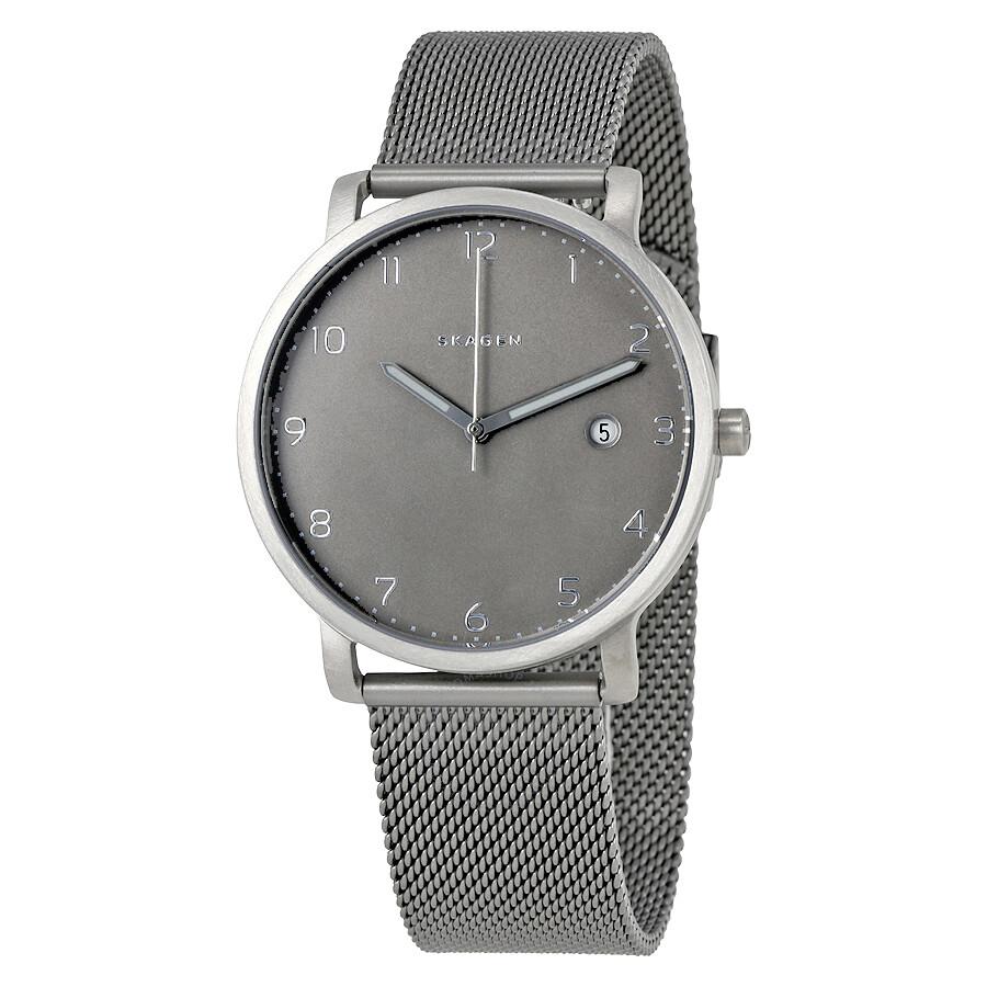 Skagen Hagen Grey Dial Titanium Mens Watch SKW6307