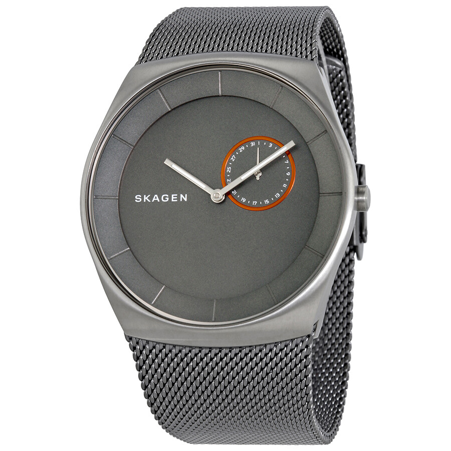 Skagen Havene Grey Matte Dial Mens Mesh Watch SKW6416