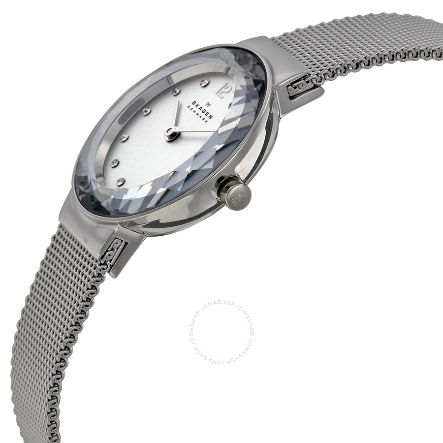skone stainless metal ladies strap c silver gloucester watch products watches steel mesh