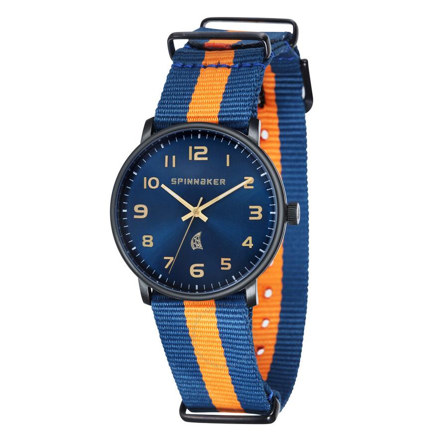 Spinnaker Nantucket Blue Dial Blue and Orange NATO Strap Mens Watch SP-5026-02