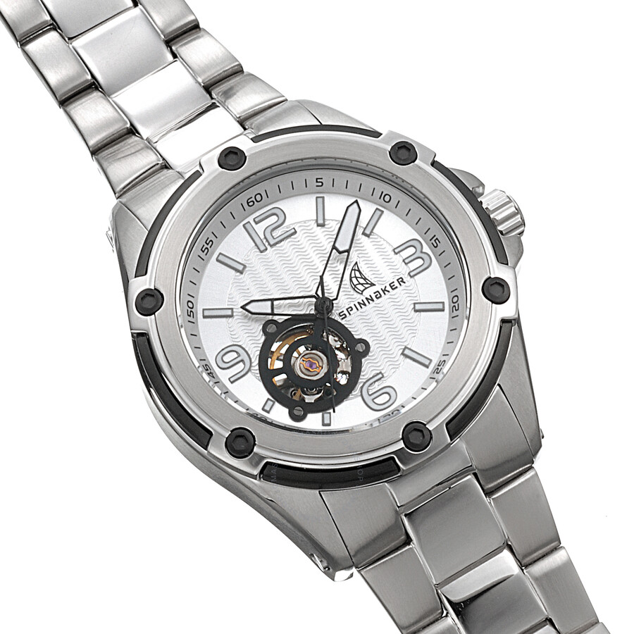 stainless mens watch dial invicta steel vintage watches silver