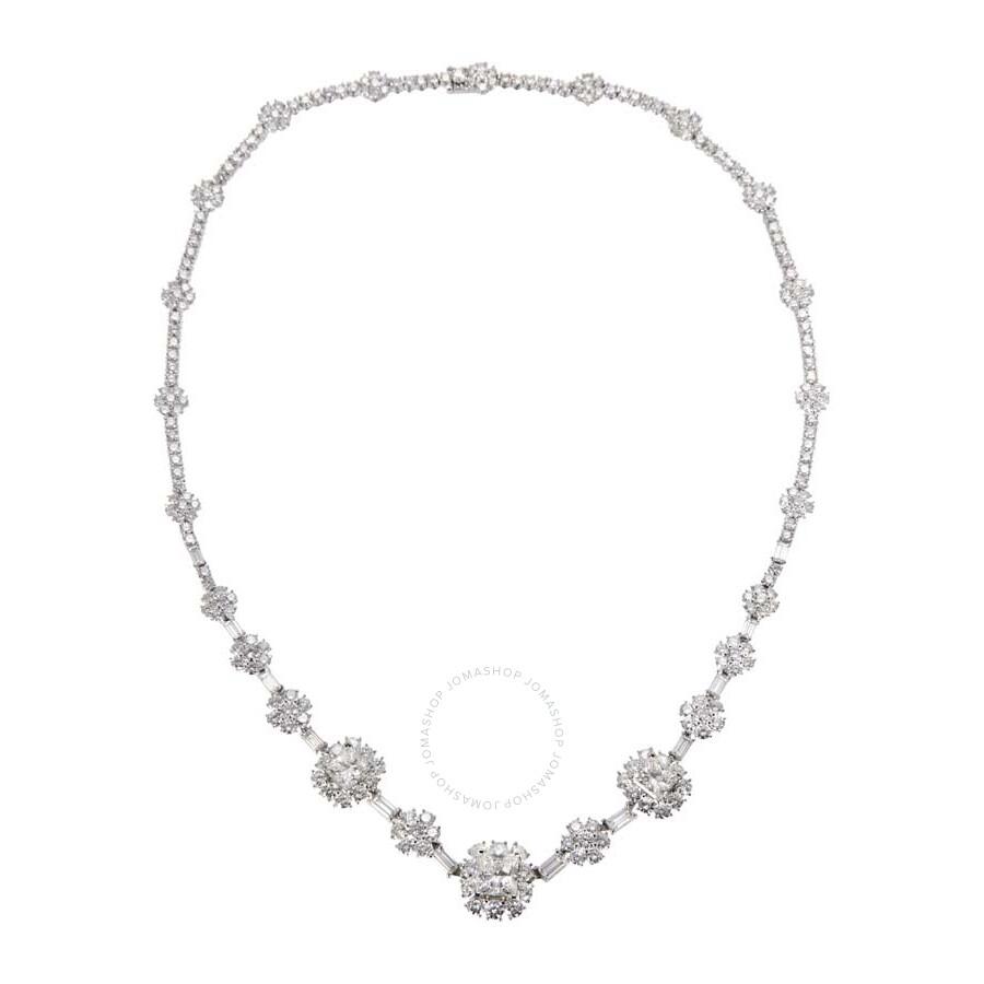 Stunning Diamond Baguette Necklace 20.11 CT