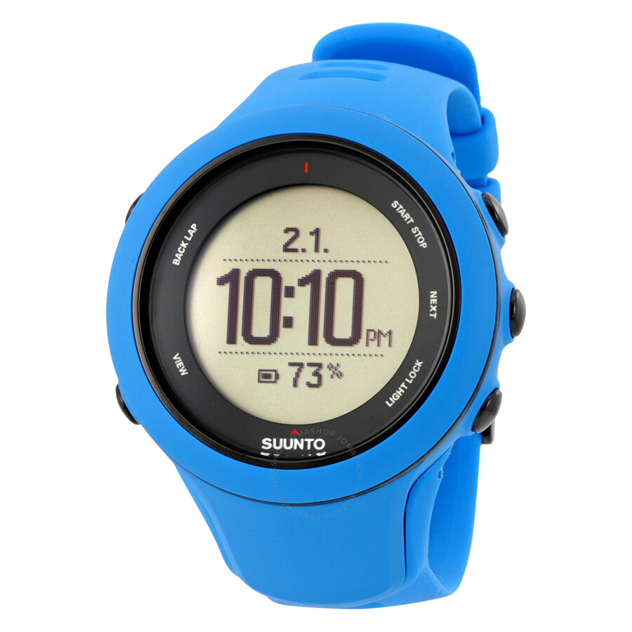 Suunto Ambit3 Blue Silicone Multisport Heart Rate Monitor GPS Watch SS020679000