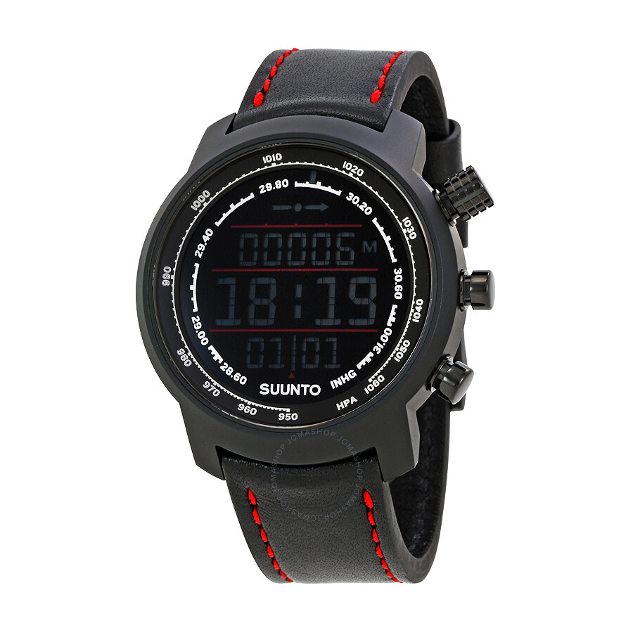 suunto suunto elementum terra unisex digital leather watch ss019171000
