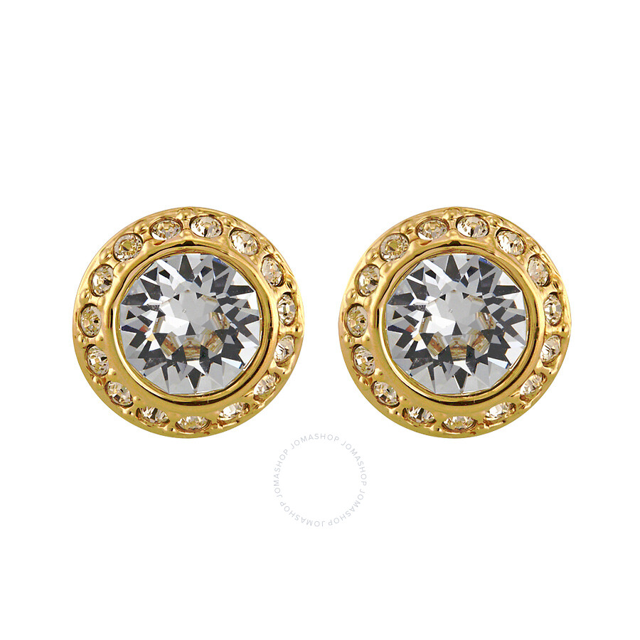 Swarovski Angelic Gold Plated Pierced Earrings 1081941