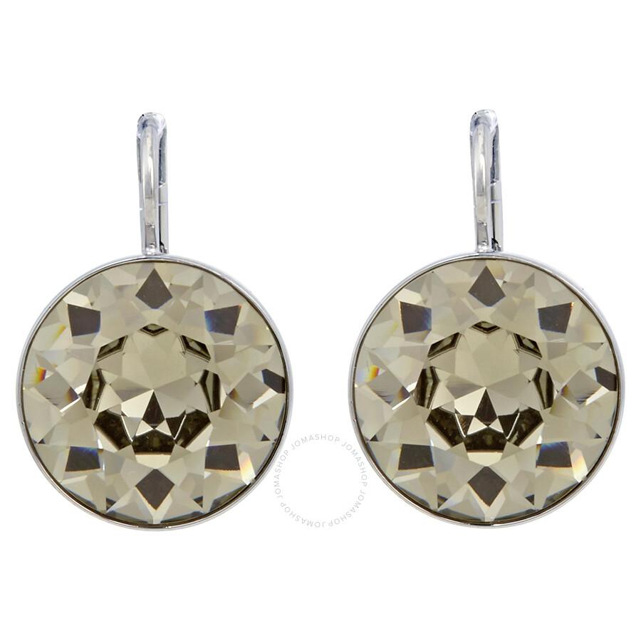 Swarovski Bella Pierced Earrrings - Black Diamond Crystal