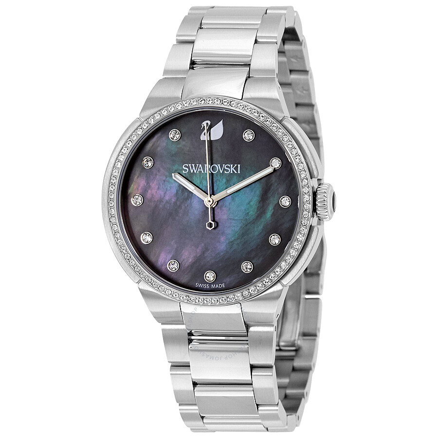swarovski city grey mother of pearl dial ladies watch 5205990 swarovski watches jomashop