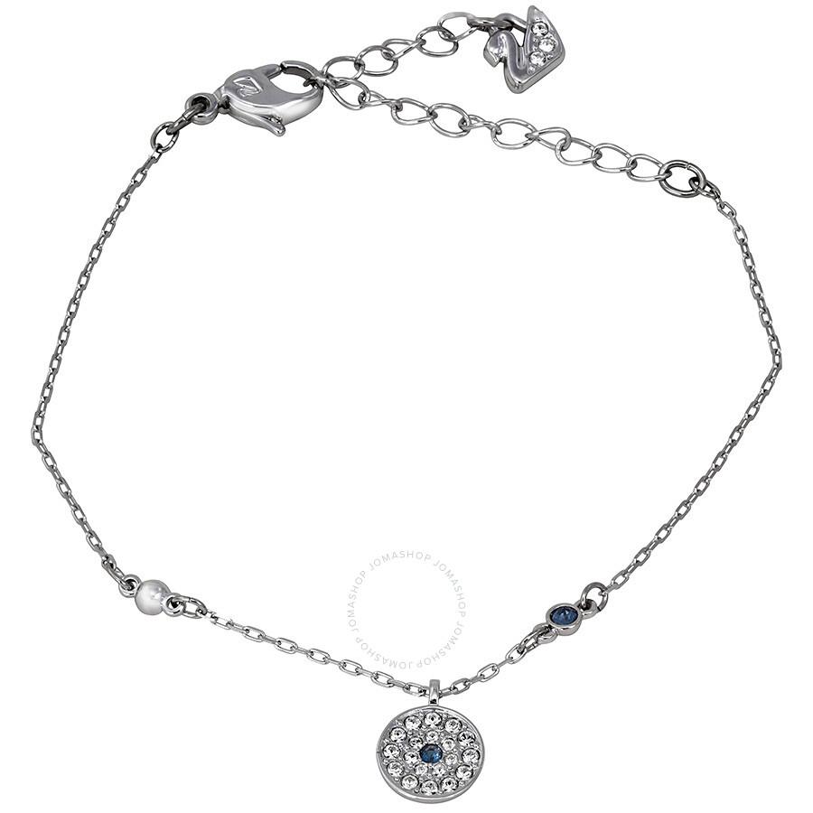 Swarovski Crystal Wishes Evil Eye Bracelet Set Blue 5272256