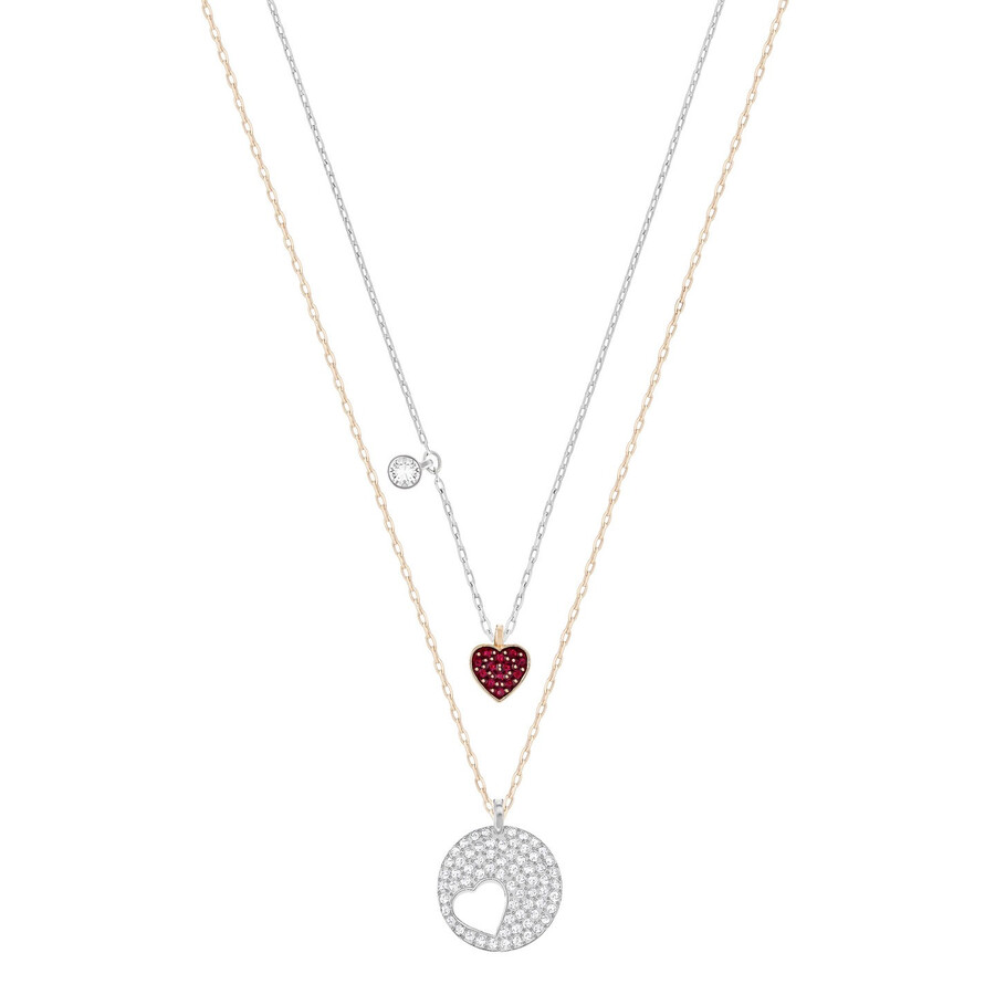 Swarovski Crystal Wishes Heart Pendant Set - Red 5255351