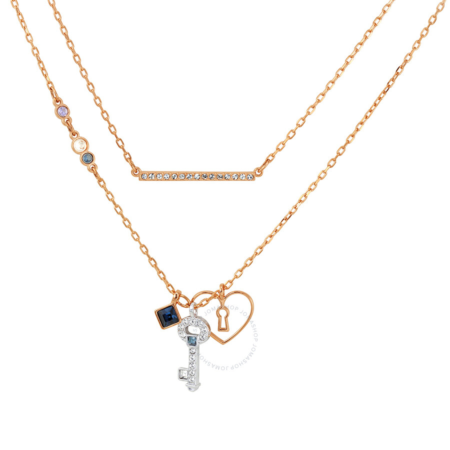 Swarovski Glowing Key Necklace, Blue 5273295
