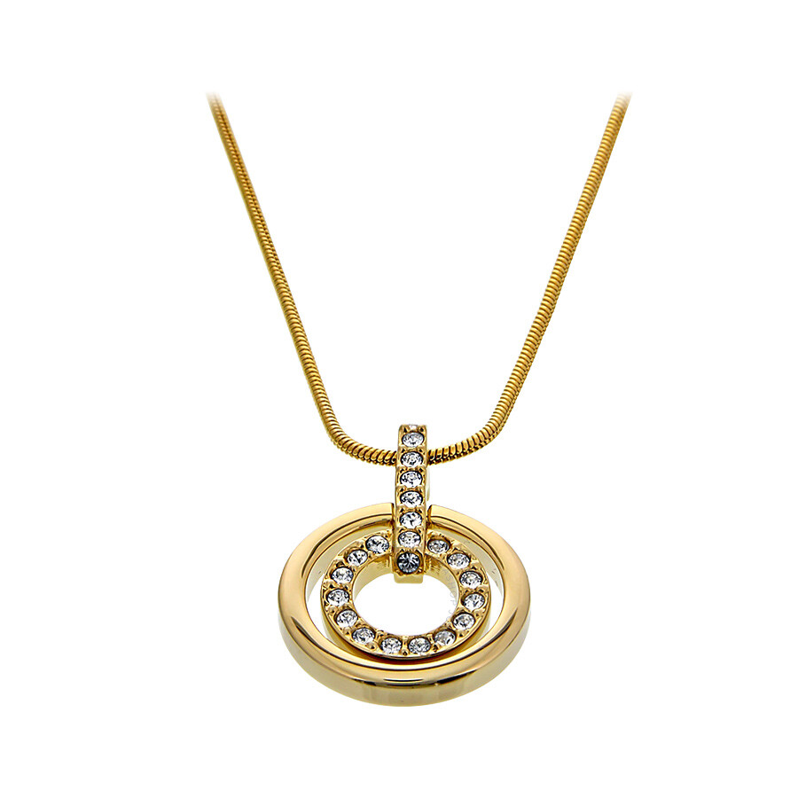 Swarovski gold plated circle pendant 1081977 swarovski ladies swarovski gold plated circle pendant 1081977 aloadofball Images