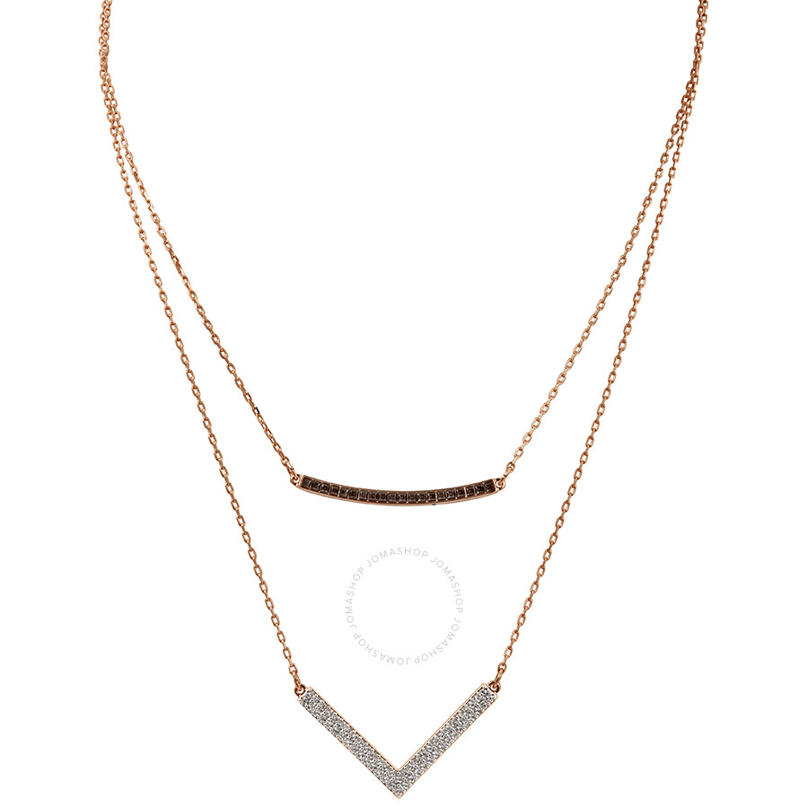 Swarovski Hero Rose Gold Hero Necklace Set