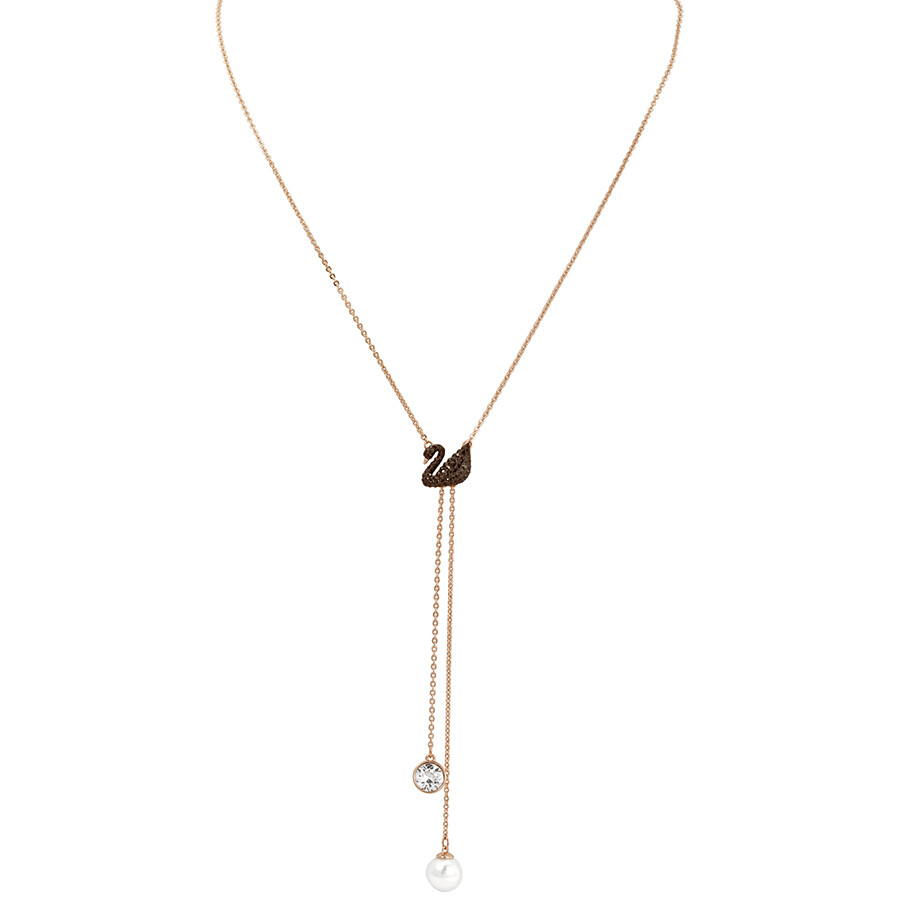 Swarovski Iconic Swan Rose Gold Double Y Necklace