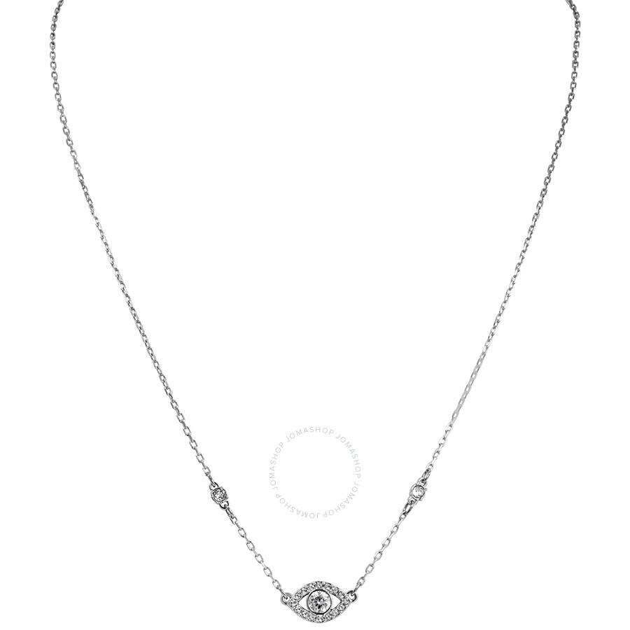 Swarovski Luckily Evil Eye Necklace in Rhodium Plating