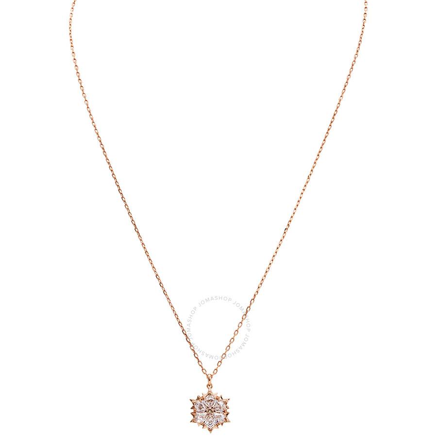 Swarovski Magic Rose Gold Plated Snowflake Necklace