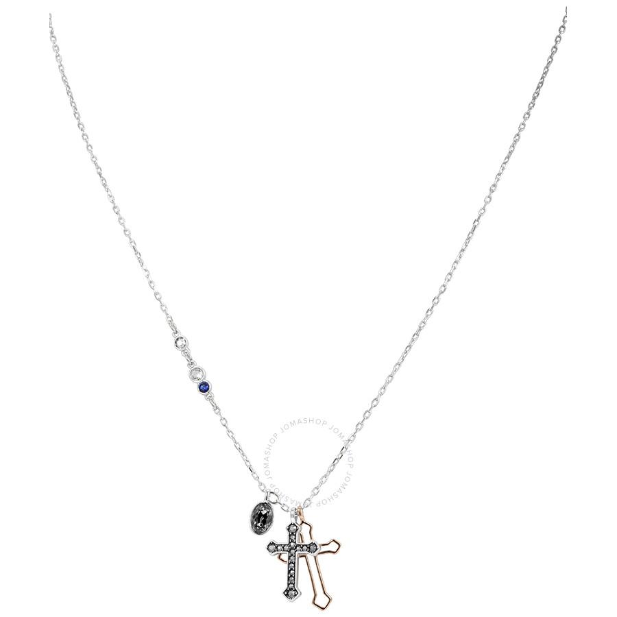 Swarovski Mixed Plated Mini Cross Necklace