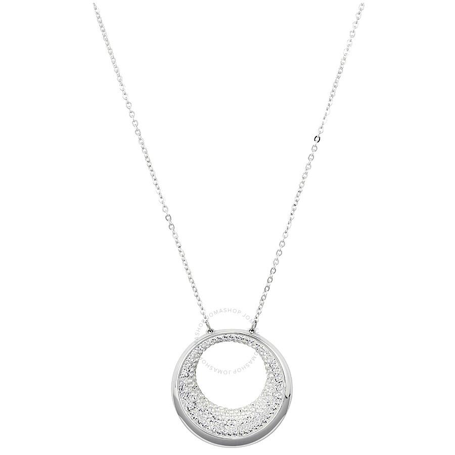 Swarovski Pebble Pendant - Rhodium