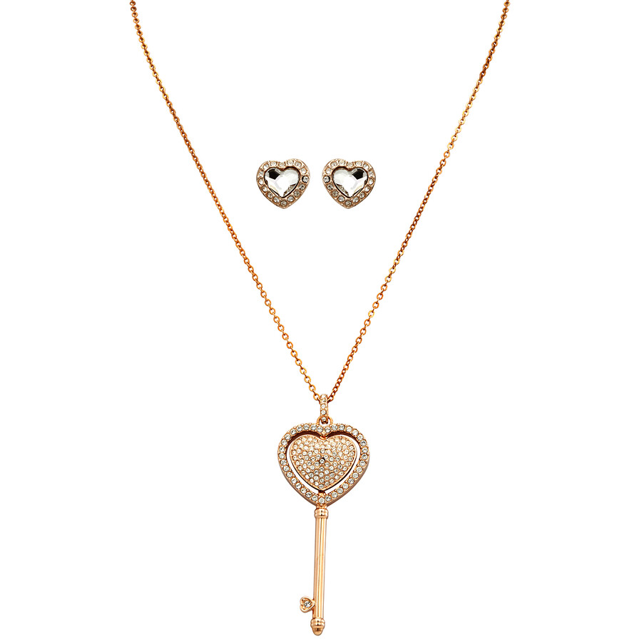 Swarovski Rose Gold Engaged Heart Set