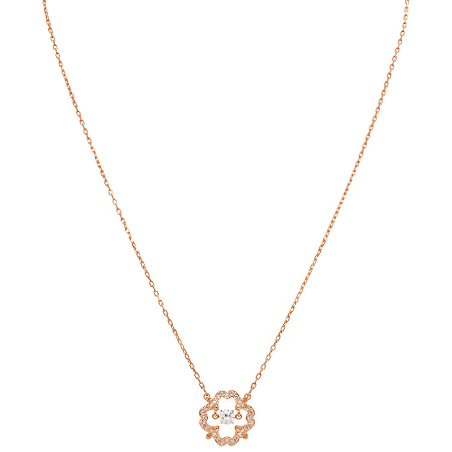 Swarovski Sparkling Dance Rose Gold Plated Necklace