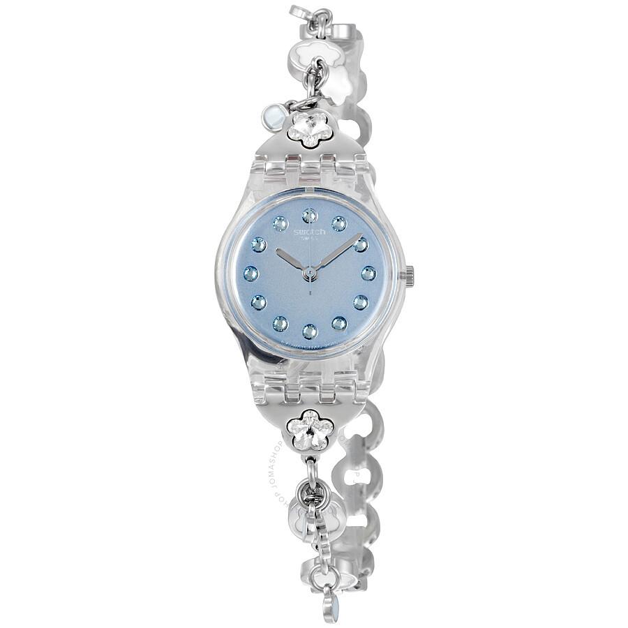 Swatch Flower Bumble Blue Dil Ladies Watch LK356G