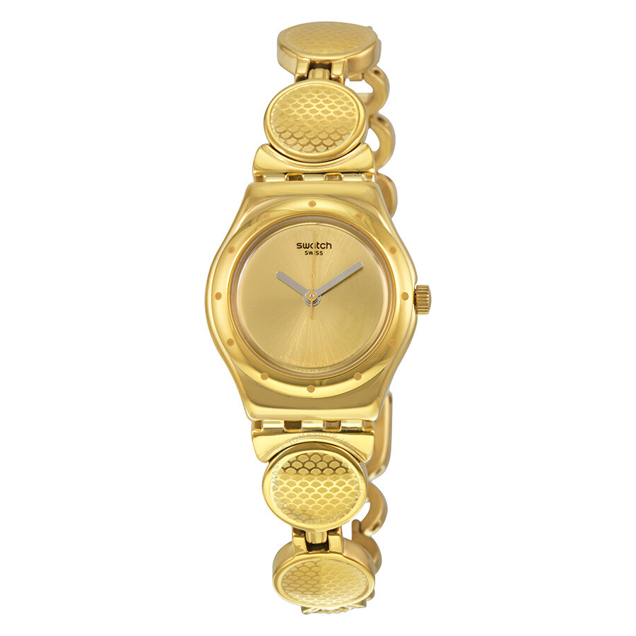 Swatch Irony Gold Dial Gold-plated Ladies Watch YSG141G