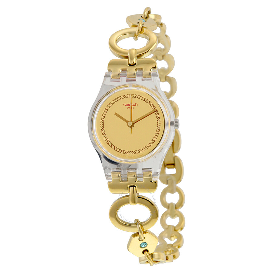 Swatch Originals Elefinja Gold Dial Yellow Gold-plated Ladies Watch LK346G