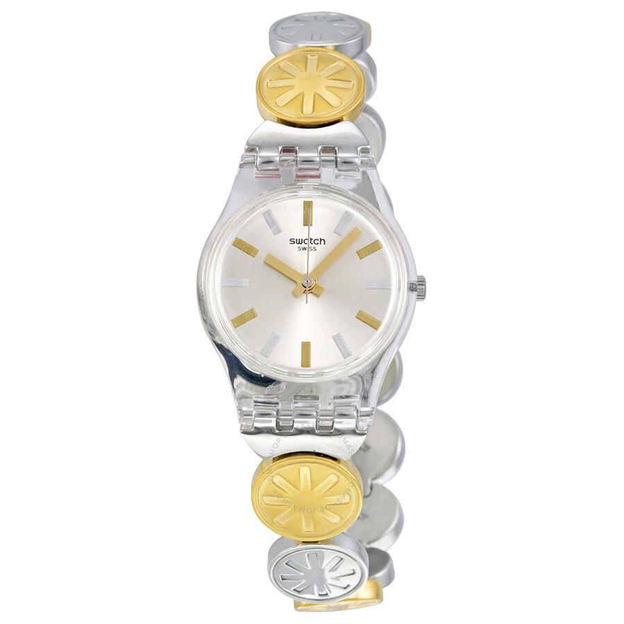 Swatch Originals Silver Stainless Steel Quartz Ladies Watch LK348G