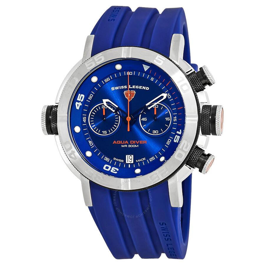 Swiss legend aqua diver chronograph watch sl 10622sm 03 bb bls swiss legend watches jomashop for Aqua marine watches