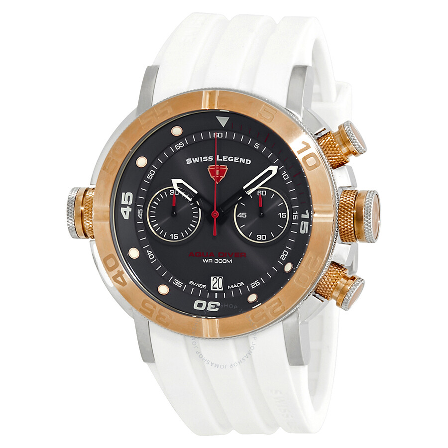 Swiss Legend Aqua Diver Chronograph Watch SL-10622SM-SR-014-WHT