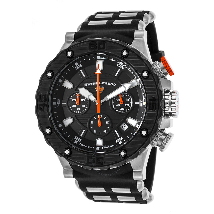 Swiss Legend Hunter Chronograph Swiss Made Mens Watch 15253sm 01 Bb