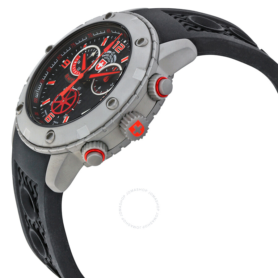 ... Swiss Military Rallye GMT Chronograph Black Dial Men's Watch 2746 ...
