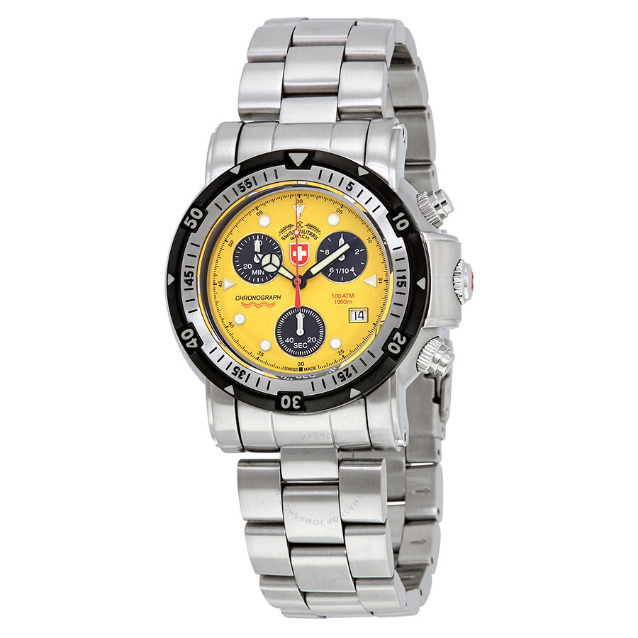 seawolf automatic avenger watches ii dial breitling yellow watch s men
