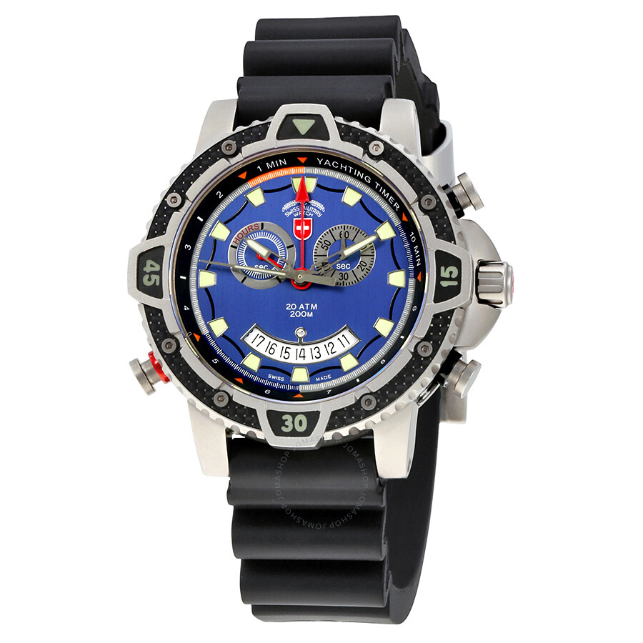 Swiss Military Typhoon Blue Dial Mens Sports Watch 24821