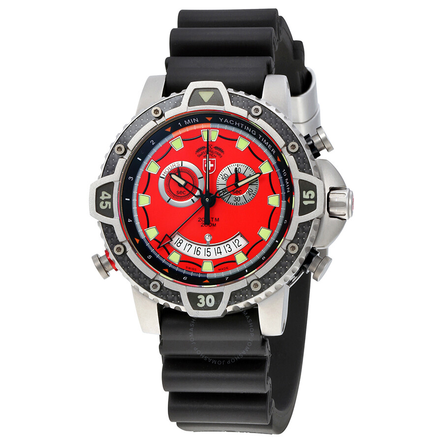 Swiss Military Typhoon Red Dial Mens Watch 24831