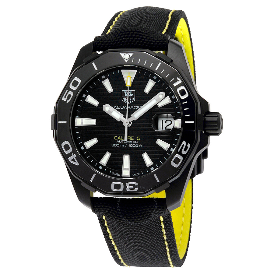 Tag Heuer Aquaracer Automatic Black Dial Mens Watch WAY218A.FC6362