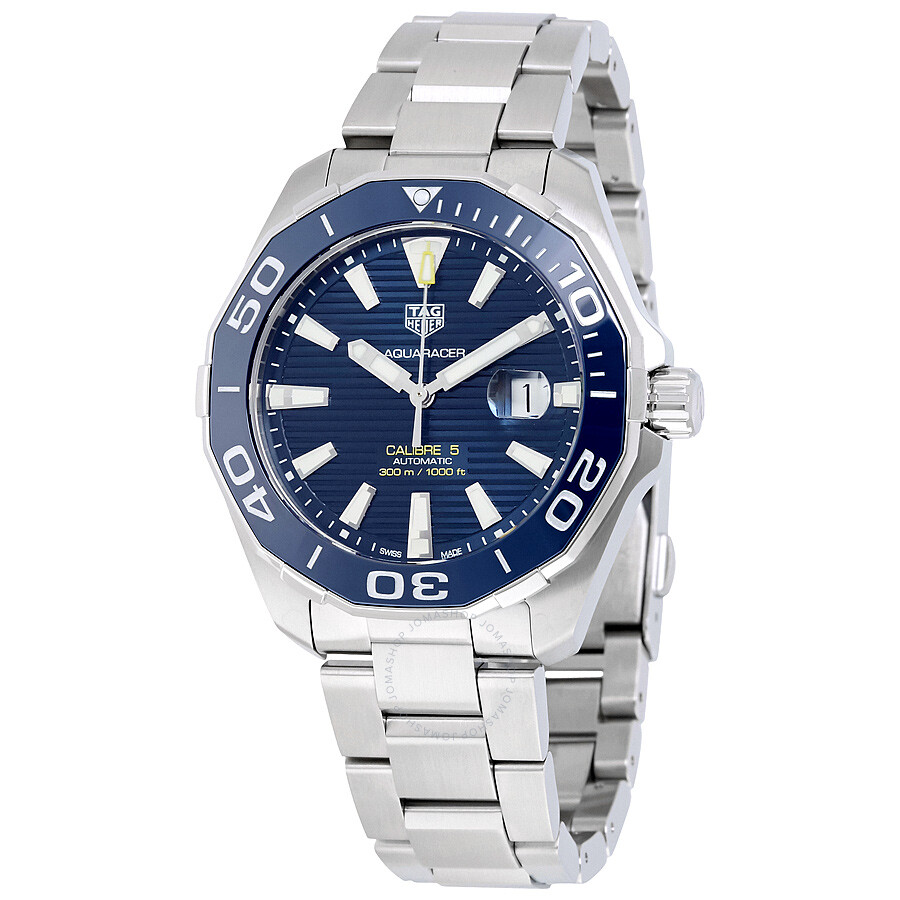Tag heuer aquaracer automatic blue dial men 39 s watch way201b ba0927 aquaracer tag heuer for Tag heuer automatic