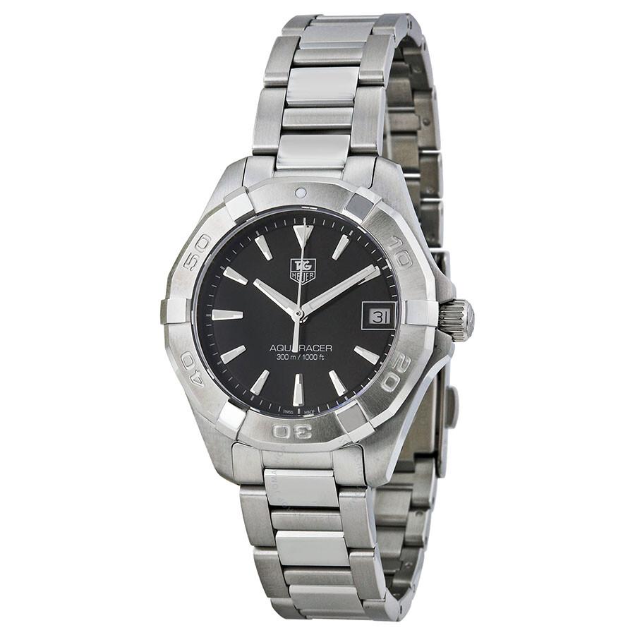 Tag heuer aquaracer black dial ladies watch way1310 ba0915 aquaracer tag heuer watches for Tag heuer women