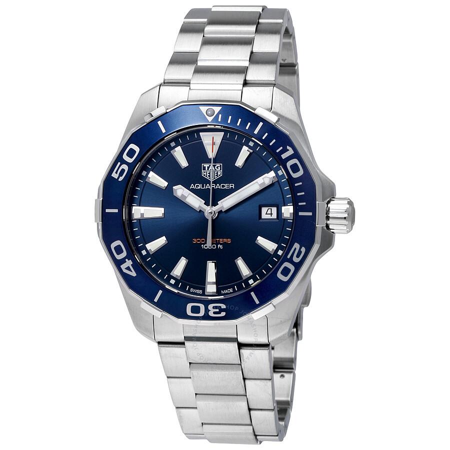 Tag Huar Watch >> Tag Heuer Aquaracer Blue Dial Men S Watch Way111c Ba0928 Aquaracer
