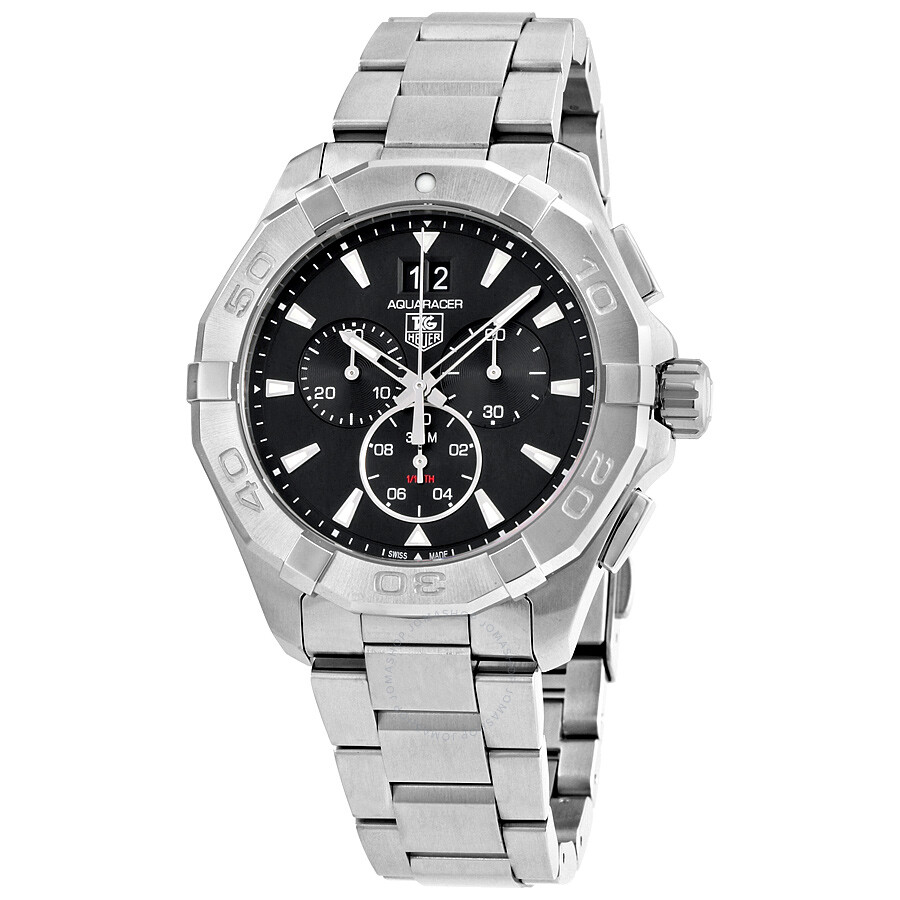 Tag heuer aquaracer chronograph black dial men 39 s watch cay1110 ba0927 aquaracer tag heuer for Tag heuer chronograph