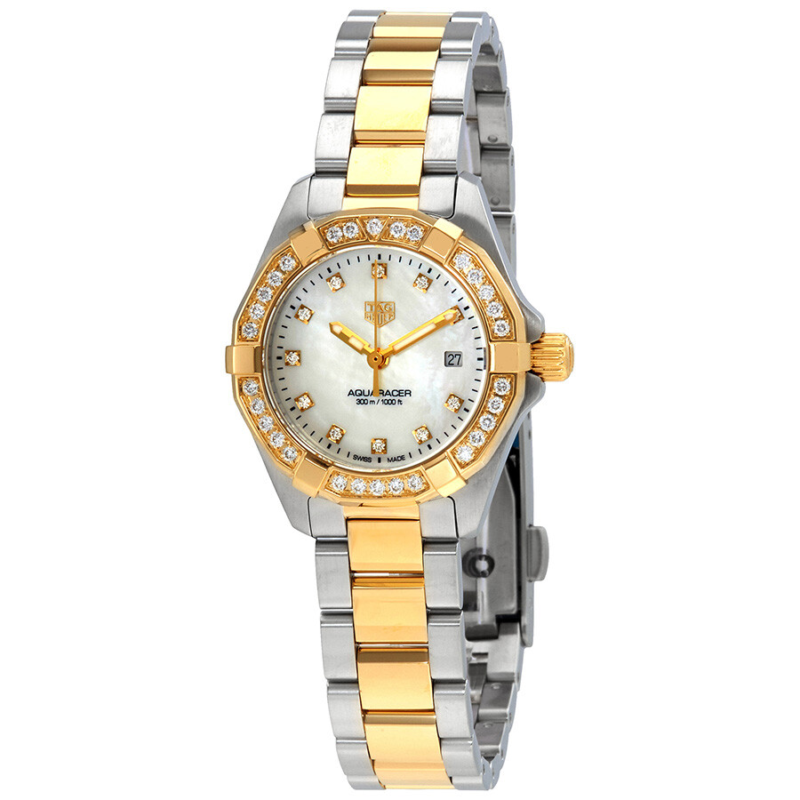 Tag Heuer Aquaracer Diamond White Mother of Pearl Dial Ladies Watch WBD1423...