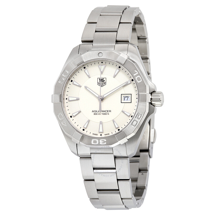 Tag Heuer Aquaracer Silver Dial Stainless Steel Mens Watch WAY1111. BA0928