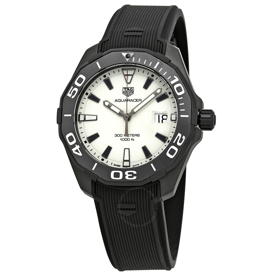 Tag Heuer Aquaracer White Dial Mens Watch WAY108A.FT6141